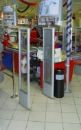 the EAS systems OdexPro Shielded, established in a supermarket